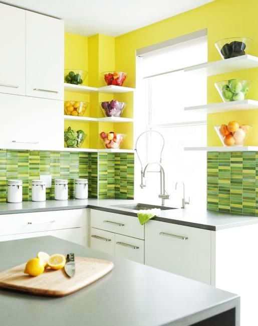 20 Modern Kitchens Decorated in Yellow and Green Colors | Home Ideas