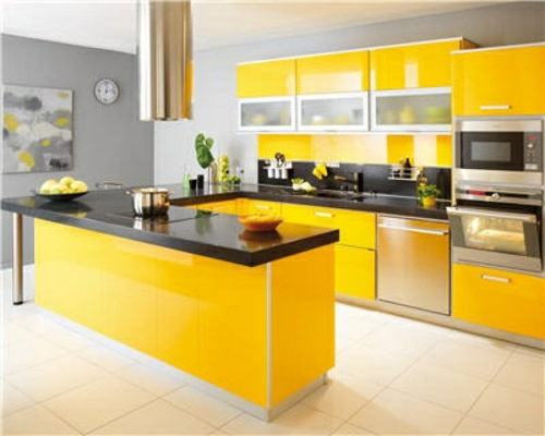 Valuable Inspiration Kitchen Design Yellow Color The Schemes On Home