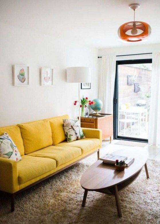 Inspiring Yellow Sofas Perfect Living Room 32 | For the Home