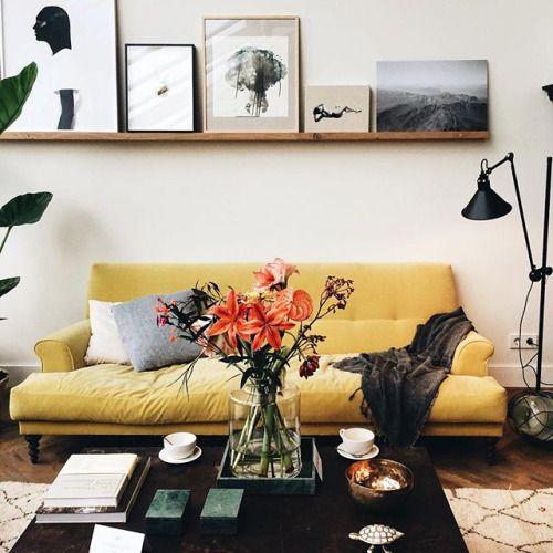 birdasaurus: byanjaroos | Home & Collections | Yellow sofa, Home