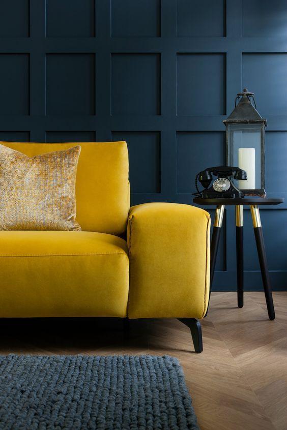Yellow Sofas Perfect Living Room