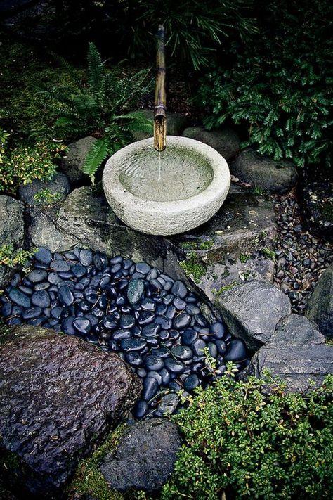 35 Good Zen Water Fountain Ideas for Garden Landscaping | garden