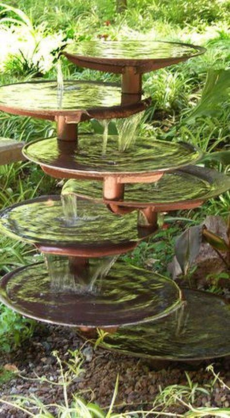 40 Zen Water Fountain Ideas for Garden Landscaping | Garden