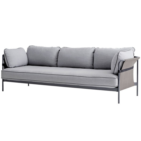 Hay Can sofa 3-seater, grey-grey frame, Surface 120 | Finnish Design
