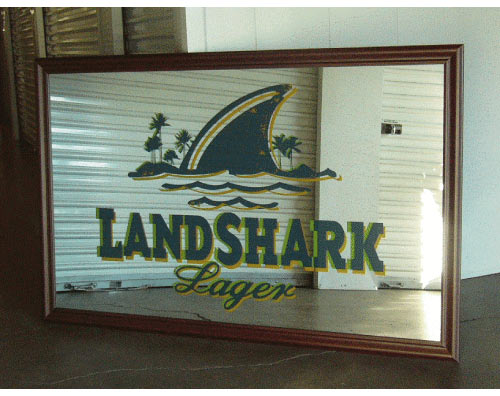 Land Shark Bar Mirror | The Pub Shoppe
