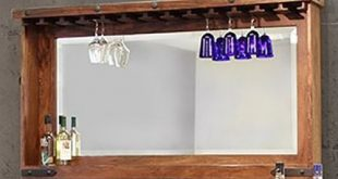 Parota Bar Mirror | The Furniture Mart