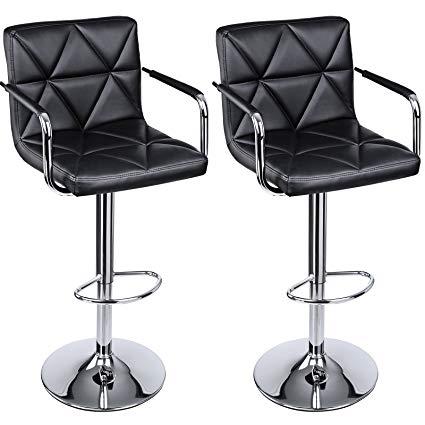 Amazon.com: SONGMICS Set of 2 Adjustable Swivel Bar Stool Chairs