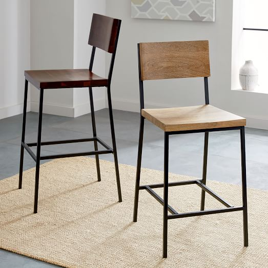 Rustic Bar + Counter Stools | west elm