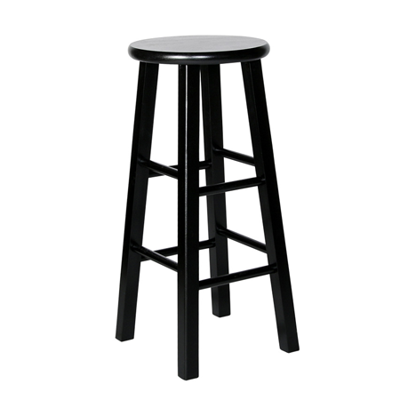 Black Wooden Bar Stool u2013 Rentastic u2013 Party & Event Rental