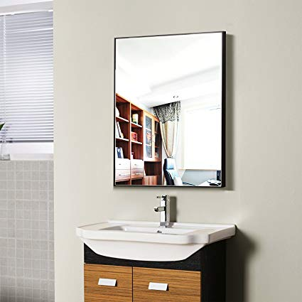 Amazon.com: Hans & Alice Large Rectangular Bathroom Mirror, Wall