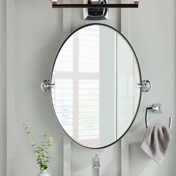 DN2692CH,BN Moen Glenshire Wall Mirror & Reviews | Wayfair
