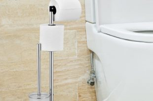 Rebrilliant Cavazos Freestanding Toilet Paper Holder with Brush