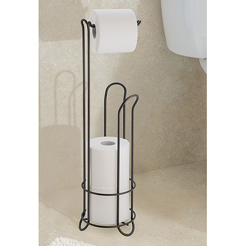 InterDesign Classico Toilet Paper Roll Holder with Stand - Walmart.com