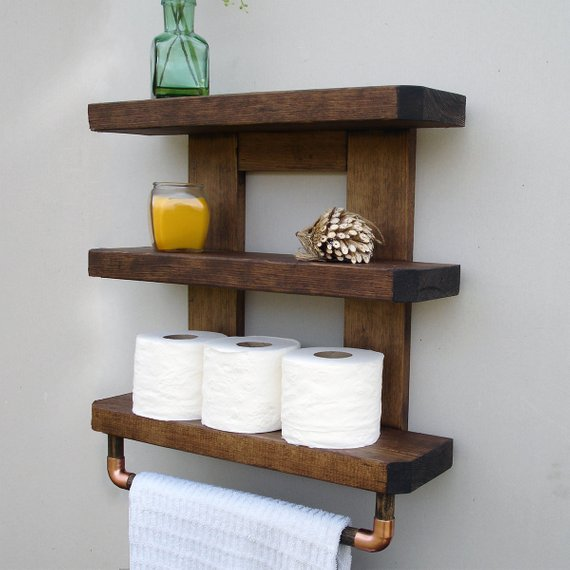 Bathroom shelves are the solution for more storage in the bathroom!