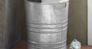 Galvanized Trash Can | Pottery Barn