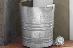 Galvanized Trash Can | Pottery Barn