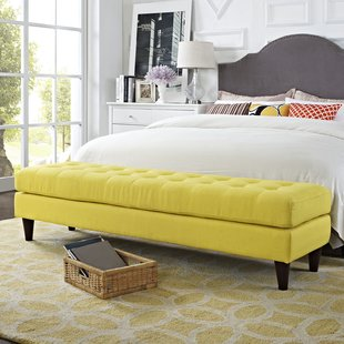 Yellow Bedroom Benches You'll Love | Wayfair