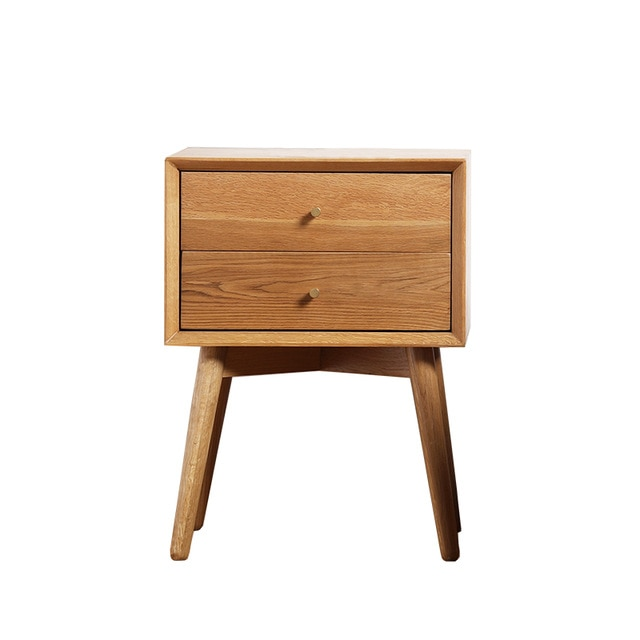 Minimalist Modern Design Wood Bedside Table cabinets chest of