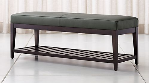 Leather & Upholstered Benches for Your Home | Crate and Barrel