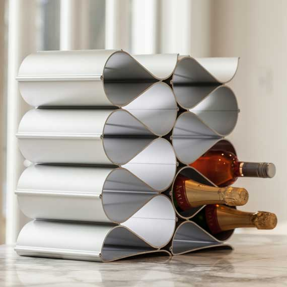 Echelon Wave 12 Bottle Wine Rack | metal | aluminium | aluminum