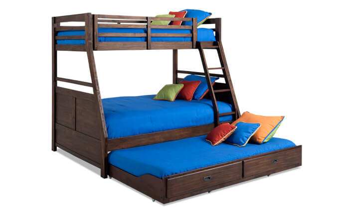 Chadwick Twin/Full Bunk Bed With Trundle | Bobs.com