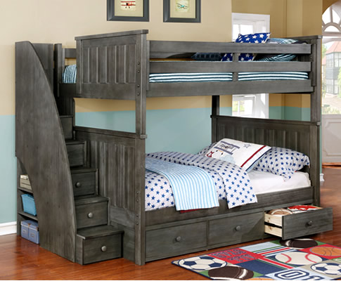 Full/Full Jordan Bunk Bed - Rooms4Kids
