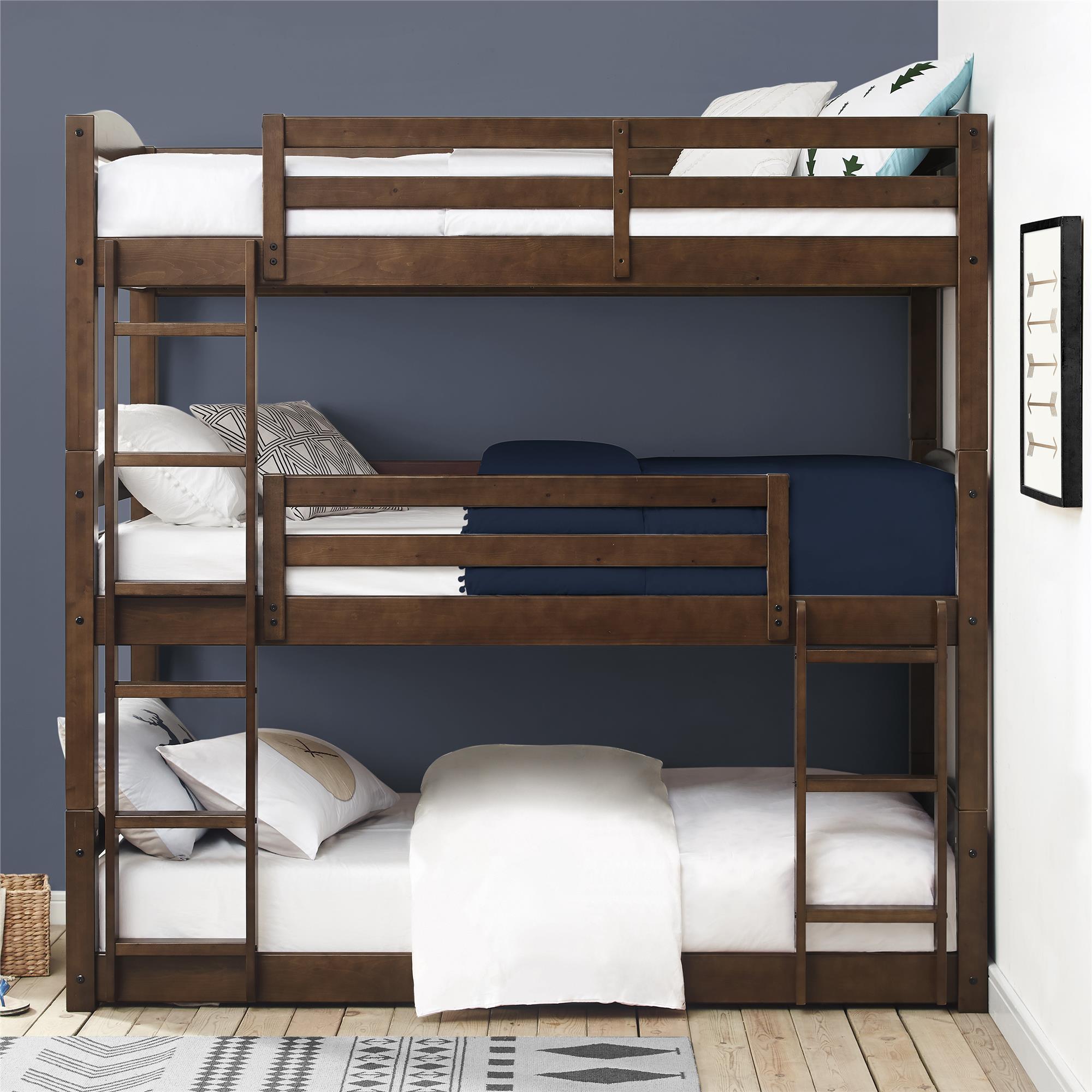 Better Homes & Gardens Tristan Triple Floor Bunk Bed, Multiple