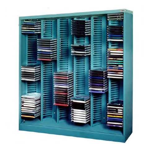 Media CD Storage Racks | CD Jewel Case Shelving Units | DVD Storage