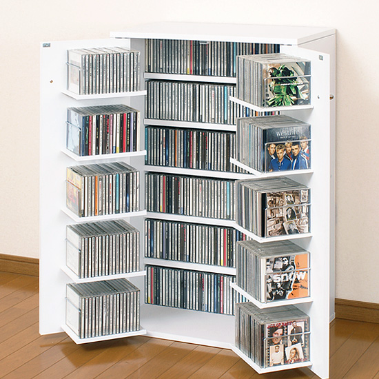 kagukuukan: Put the CD storage CD racks CD DVD Bookshelf arrangement