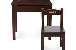 Amazon.com: Melissa & Doug Personalized Wooden Lift-Top Desk & Chair