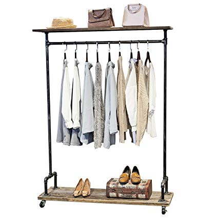 Amazon.com: MBQQ Industrial Pipe Clothing Rack on Wheels,Rolling