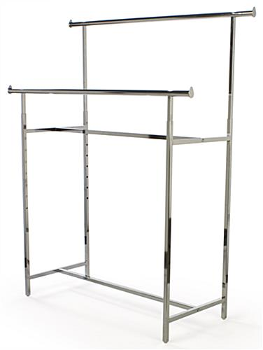 Straight Rod Clothes Rack | Adjustable Height Garment Display