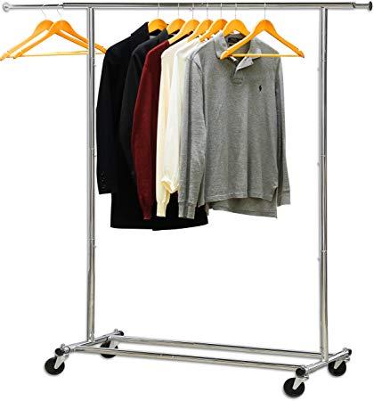 Amazon.com: Simple Houseware Heavy Duty Clothing Garment Rack