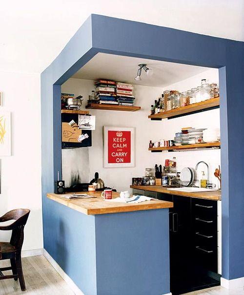 Small Kitchen? Outline It With Paint! | kitchens | Kitchen, Kitchen