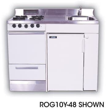 Acme ROE9Y48 Compact Kitchen with Stainless Steel Countertop, 4