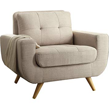 Amazon.com: Rosevera Elena Contemporary Armchair, Beige: Kitchen
