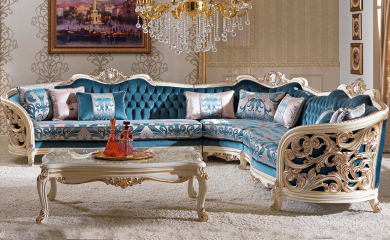 Classic Corner Sofa, Classical Sitting Group, Corner Sofa Sets