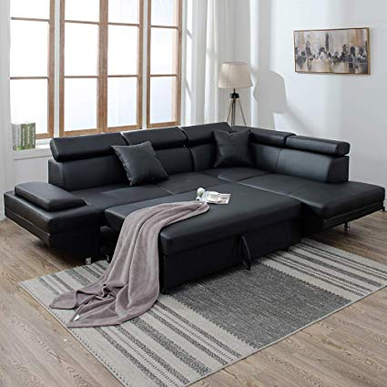 Amazon.com: Corner Sofas Sets for Living Room, Leather Sectional