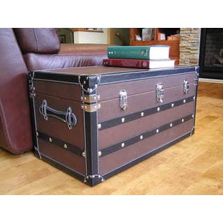 Shop Decorative Sterling Medium Wood Steamer Trunk Wooden Treasure