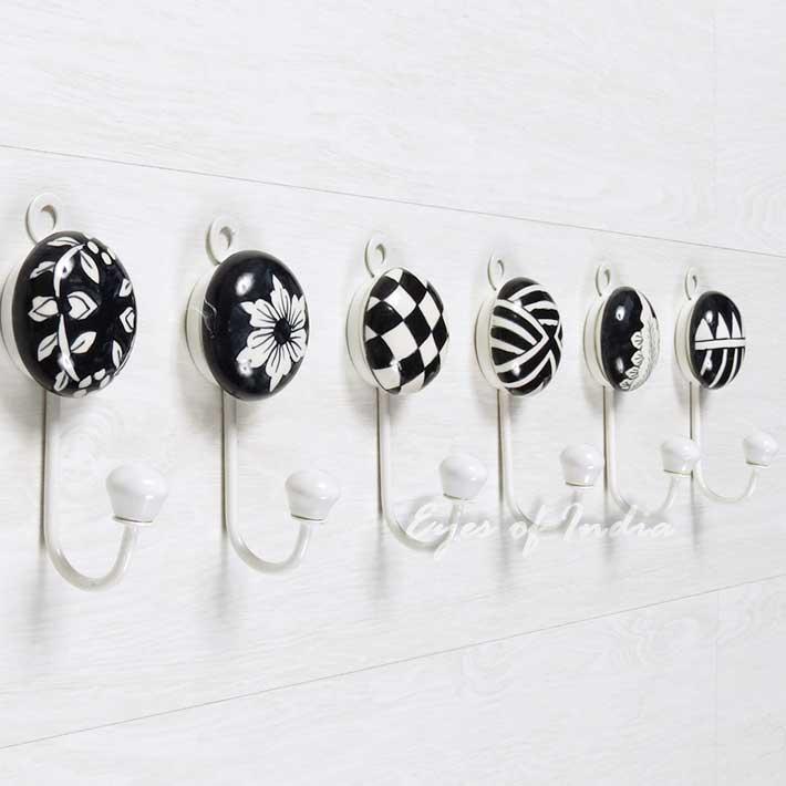 Ceramic Wall Hooks, Colorful Decorative Hooks   Decorative Coat