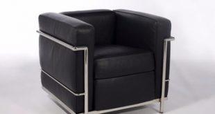 Designer Leather Chair / Mid Century Designer Armchair / Real Top
