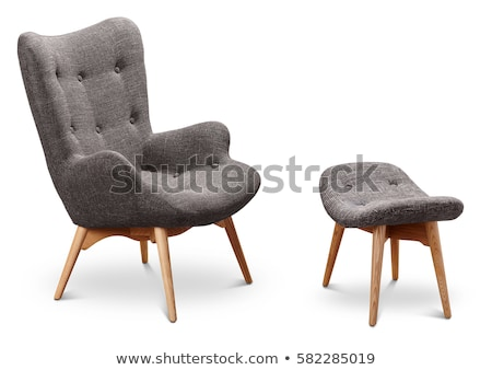 Gray Color Armchair Small Chair Legs Stock Photo (Edit Now