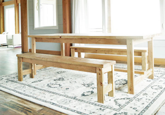Ana White | Beginner Farm Table Benches (2 Tools + $20 in Lumber