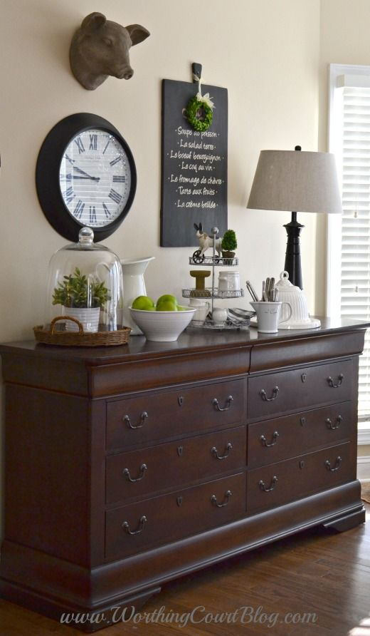 Adding Farmhouse Style To The Kitchen And Dressers Aren't Just For