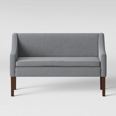 Nashua Settee Bench With Short Back Gray Fabric - Threshold™ : Target