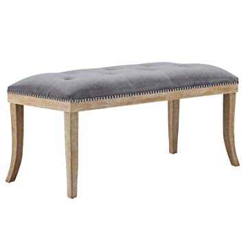 Amazon.com: Modway EEI-2574-GRY Expression Upholstered Fabric Bench