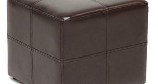 Amazon.com: Leather Ottoman Chair Cube Furniture Modern Footstool