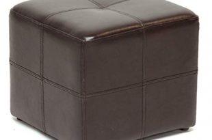 Amazon.com: Leather Ottoman Chair Cube Furniture Modern Footstool