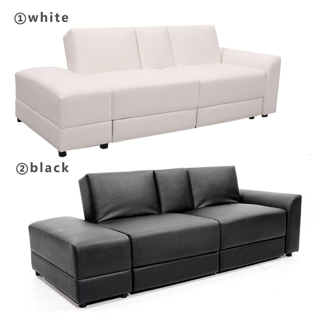 Functional Sofa Bed PU Sectional Sofa Lounge Storage Drawer Living