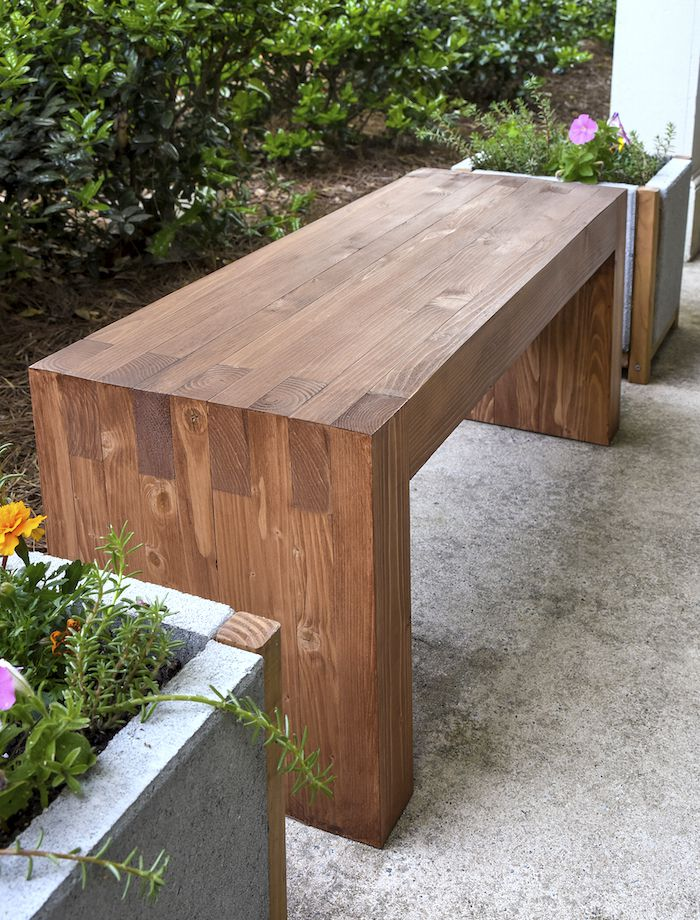 18 DIY Garden Bench Ideas - Free Plans for Outdoor Benches